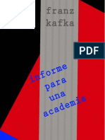 Maldororediciones Kafka Informe Para Una Academia
