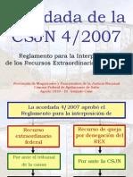 Acordada 4 Del 2007 Agosto Salta 2010