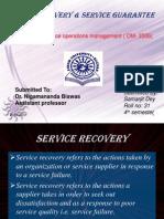 Service Recovery & Service Guarantees