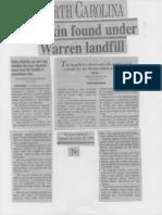 Dioxin Under Landfill