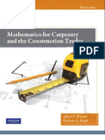 Mathematics for Carpentry and the Construction Trades 3rd Ed - A. Webster, K. Bright (Pearson, 2012) BBS