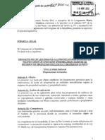 Proyecto de Ley - Convocatoria de Junta de Propietarios