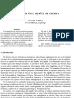 Anglicismos en America Latina