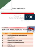 Bahasa Indonesia Tutorial 7 (Modul 7&8)