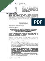 Proyecto de Ley Nro. 00994/2011-CR