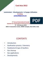 Gasification Coal Asia 2012 New Delhi