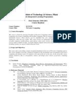 SSZG531 Pervasive Computing 2010 2011 Handout