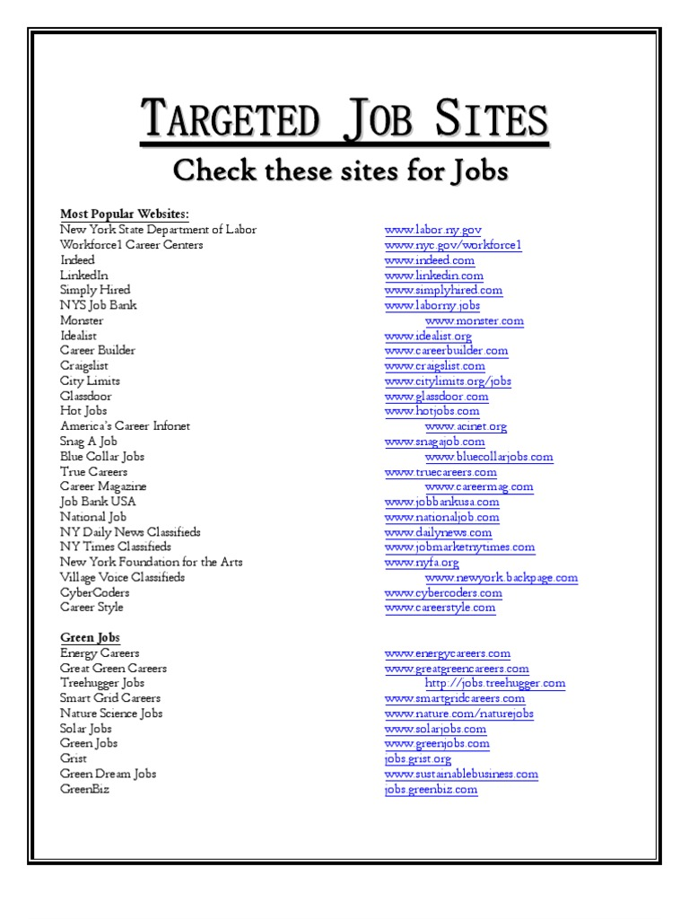 2012 targeted job sites - Most Popular Jobs In America Most Popular Careers In The Usa
