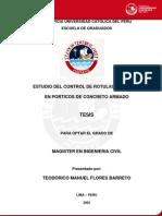 2003 Estudio Del Control de Rotulas Plasticas en Porticos de Concreto Armado
