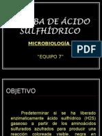 Micro Prueba de Ácido SulfhÍdrico