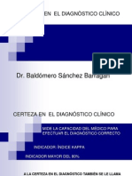 Certeza y Discrepancial Dx Clinico