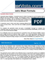 Geometric Mean Formula