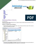 Disable Autorun Di Windows 7, XP Dan Vista