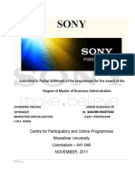 Project Report on Sony