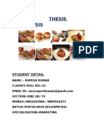 Thesis Synopsis