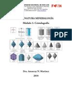 Mineralogía Modulo 1 (2010) Cristalografía