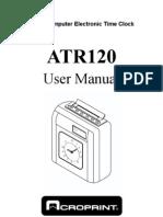 Atr120 Usermanua(PUNCH CARD)l