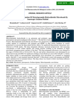 Formulation and Evaluation of Metoclopramide Hydro Chloride Micro Beads by Ionotropic Gelation Method