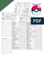 Pokemon d20 Character Sheet