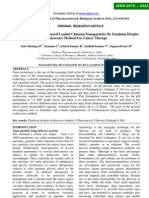 Formulation of 5-fluorouracil Loaded Chitosan Nanoparticles By Emulsion Droplet method