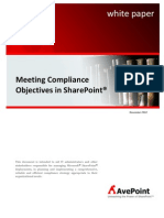 Meeting Compliance Objectives in Share Point