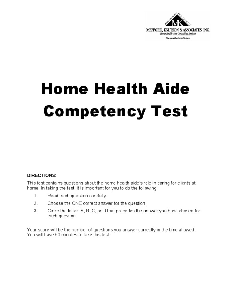 home health aide competency testing Home health care pharmacy services  skilled nursing home health competency test home about us our services employment opportunities testimonials our.