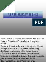 ASPEK HUKUM BISNIS