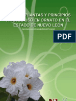 Lista de Plantas y Principios Para Su Uso en Ornato en El Estado de Nuevo Leon