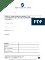 Critical Assessment Report