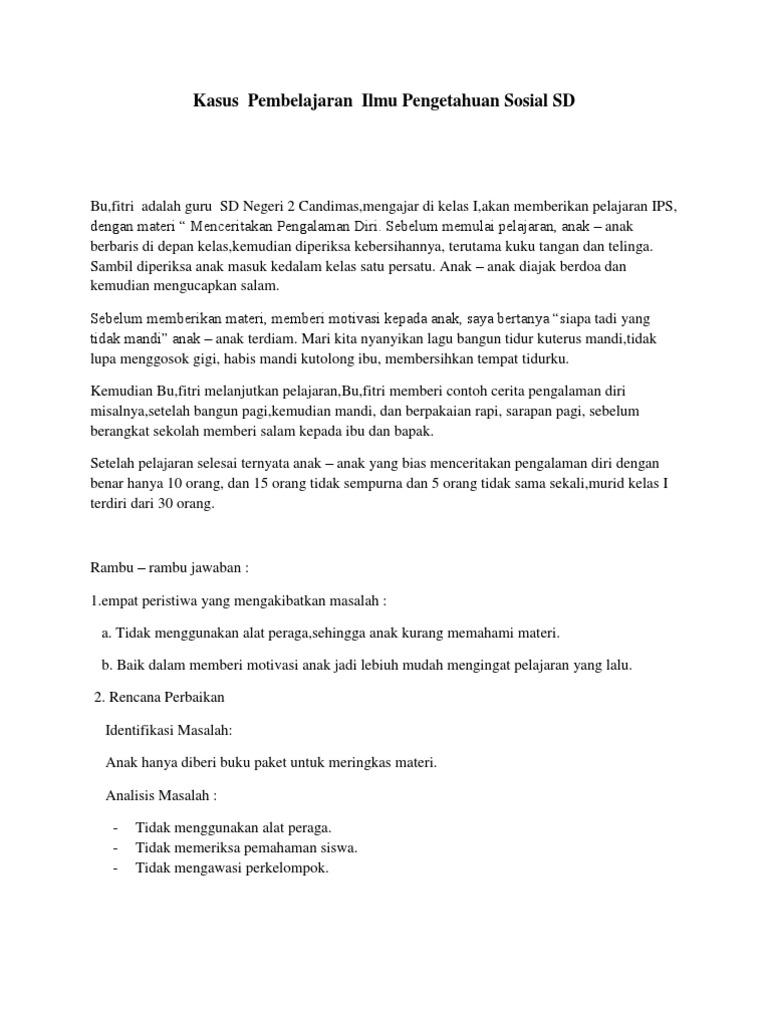 Kasus Pembelajaran Ips