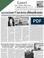 Interrogazione Locride da Il quotidiano della Calabria del 13.12.07
