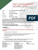 Peace Corps Education Technical Resource Facilitator