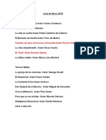 Lista de libros 2010