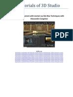 Tutorials of 3D Studio