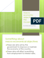 Macro-Economical Objectives of the Government