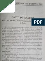 Centrul National de Românizare. Caiet de sarcini pentru arendarea bunurilor proprietatea CNR