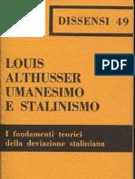 Louis Althusser - Umanesimo e Stalinismo