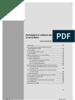 Connaissance Et Utilisation Des Ressources en Sol Au Maroc