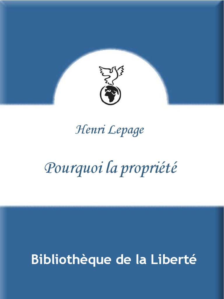 Lepage Pourquoi La Propriete 53ddb0ae6a2