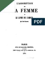 L Assomption de La Femme Ou Le Livre de l Amour 1841