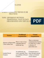 Difference Between Virtual & Traditional Organizations