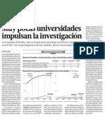 Universidades en el Perú no impulsan investigación en alumnos
