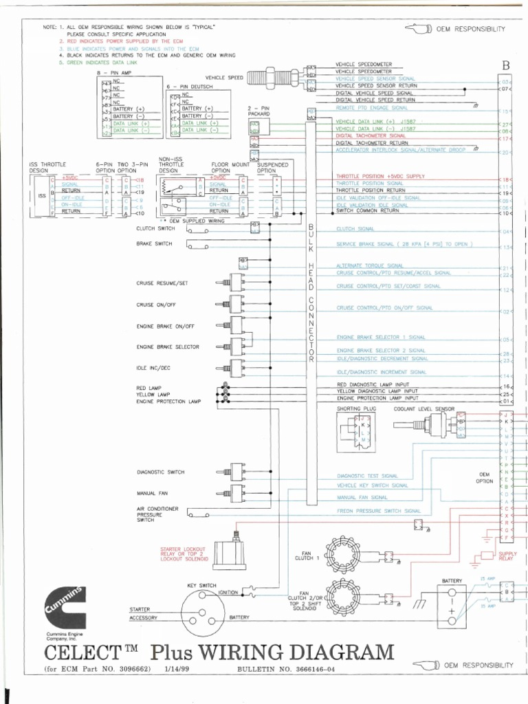 N14 Wiring Diagram Schema Diagrams Freightliner Electrical Mins Data Cummins Ecm Celect