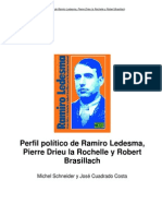 Ramiro Ledesma Pierre Drieu La Rochelle y Robert Brasillach