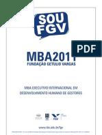 MBA to Humano de Gestores 2011