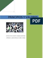 PRINCIPIOS Y VALORES Desarrollo Actividad
