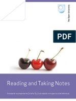 Reading and Taking Notes Open University