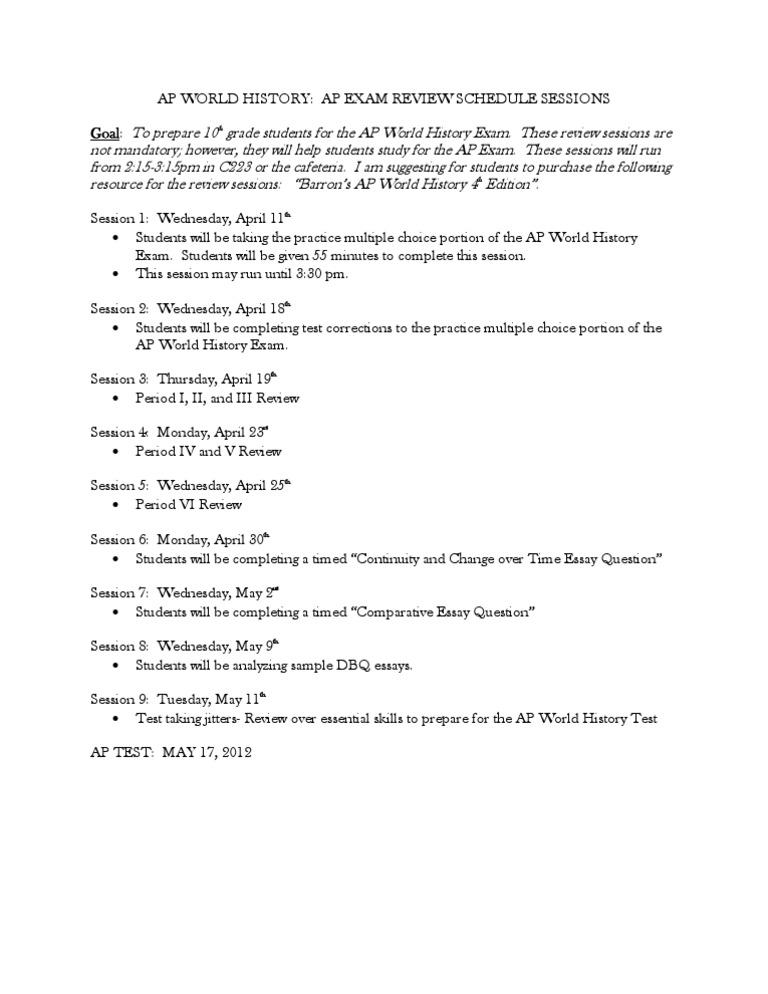 Ap world history essay questions 2012 dissertation philosophie exemple rdige