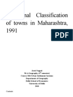 Functional Classification of Towns in Maharashtra