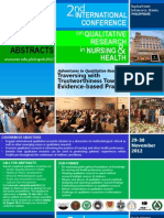 2nd International Qualitative Research Conference in Nursing and Health